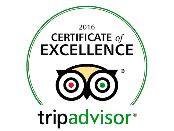 CERTIFICADO DE EXCELENCIA TRIP ADVISOR PARA THE HUNTER'S DREAM SAFARI
